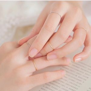 Jewelry - Delicate Midi Ring Mixed Set of 3  Bands RG YG WG